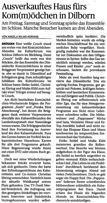 Rheinische Post am 18.09.2013